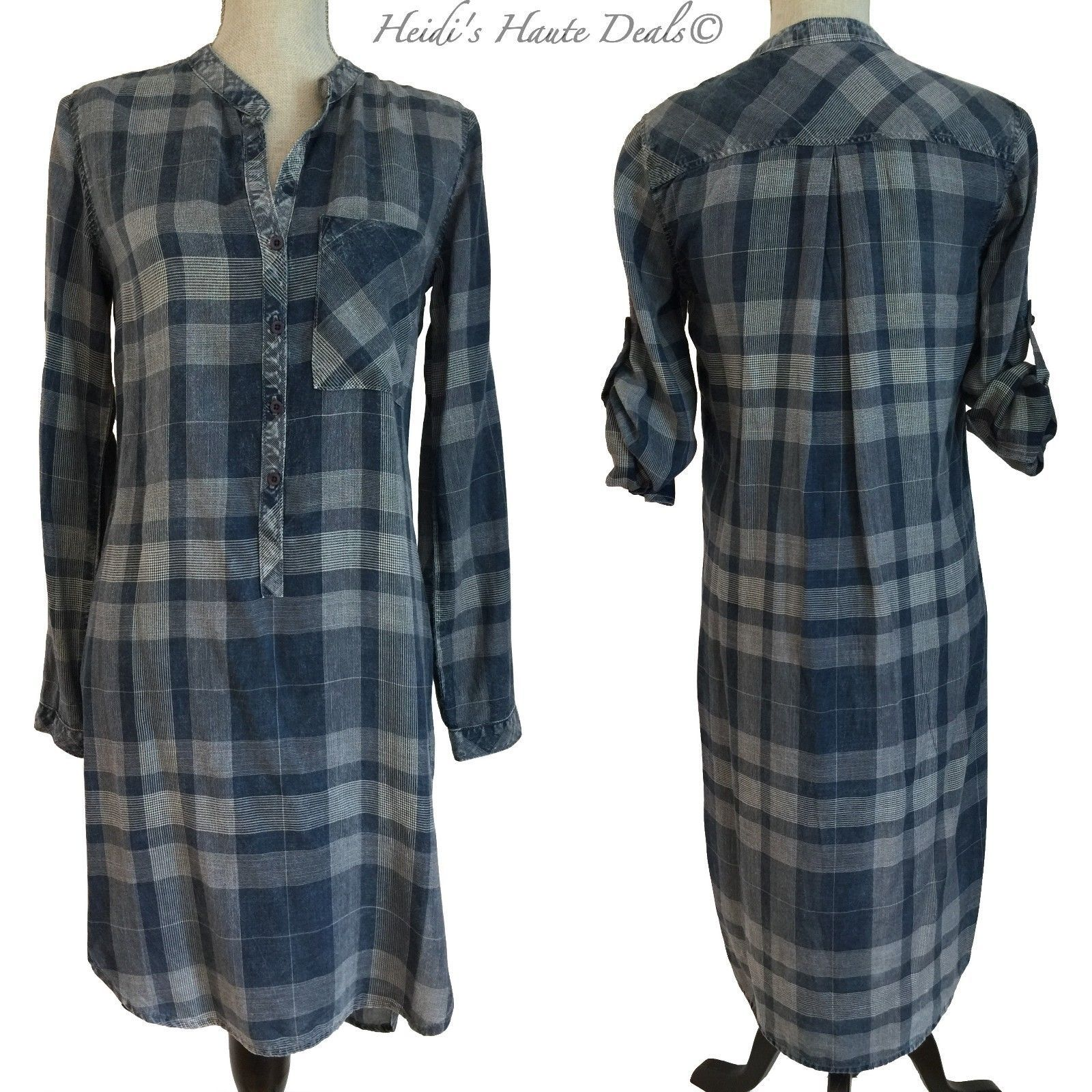 80def6b04aff NEW Anthropologie Cloth & Stone Blue Plaid and 50 similar items