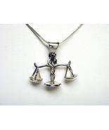 Sterling Silver Zodiac Sign LIBRA Scales Pendant - $15.00