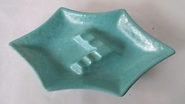 Royal Haeger Mid Century Turquoise Footed Ashtr... - $23.36