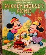 MICKEY MOUSE'S PICNIC [Hardcover] [Jan 01, 1950] Disney, Walt - $2.90