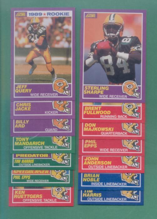 1989 Score Green Bay Packers Football Team Set