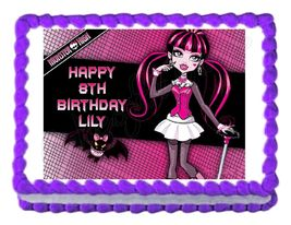 Monster High Draculaura Edible Cake Image Cake Topper - $8.98+