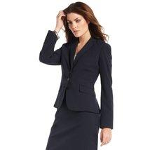 Anne Klein 3-button Notched Collar Blazer (4, Midnight (Dark Blue)) - $54.99