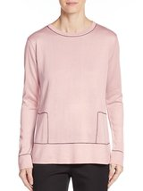 Calvin Klein Contrast Stitch Long Sleeve Women's Sweater (Blush, Size La... - $45.99