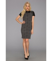 MICHAEL Michael Kors Women's Leather Yoke Dress Black 0 - $75.99