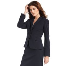 Anne Klein 3-button Notched Collar Blazer (8, Midnight (Dark Blue)) - $54.99