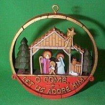 Nativity from the Nostalgia collection 1977 hallmark ornament - $53.25