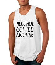 Men's Tank Top Alcohol Coffee Nicotine Cool Funny Top - $14.94+
