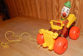 Vintage Fisher Price Jalopy with Clown Driver Pull Toy #724 - $19.33