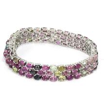 925 Sterling silver bracelet jewerly with tourmaline gemstone jewelry - $104.80