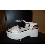 New CHANEL Lambskin leather White Black Quilted... - $604.74
