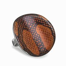 Sterling Silver Enamel Snake Skin Pattern Ring - $22.50