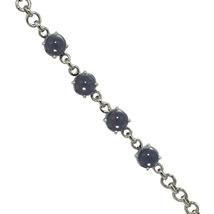 925 Sterling silver bracelet jewelry genuine blue topaz gemstone bracelet - $33.60