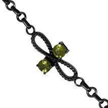925 Sterling silver bracelet wonderful shining peridot gemstone bracelet... - $24.00