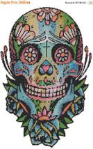 Sugar Skull - pop art - 119 x 183 stitches - Cross Stitch Pattern L637 - $3.99