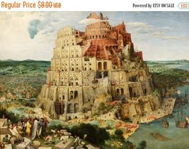 Tower of Babel Bruegel - 496 x 363 stitches - Cross Stitch Pattern L671 - $3.99
