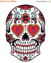 Sugar Skull - pop art - 138 x 197 stitches - Cross Stitch Pattern L685 - $3.99
