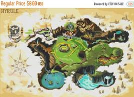 Ura hyrule map - 331 x 220 stitches - Cross Stitch Pattern L1126 - $3.99