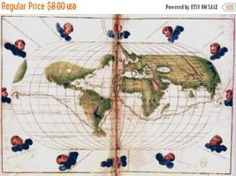 Universal Mercator map - 386 x 264 stitches - Cross Stitch Pattern L1129 - $3.99