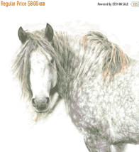 White horse - 283 x 289 stitches - Cross Stitch Pattern L427 - $3.99