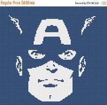 Captain America marvel - 121 x 111 stitches - Cross Stitch Pattern L905 - $3.99