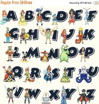Alphabet characters - 358x355 stitches - Cross Stitch Pattern L1015 - $3.99