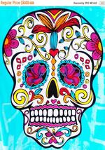 Sugar Skull - pop art - 160 x 219 stitches - Cross Stitch Pattern L1176 - $3.99