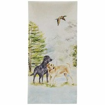 Lab Dogs iin Woods Printed Kitchen Dish Towel - $29.70