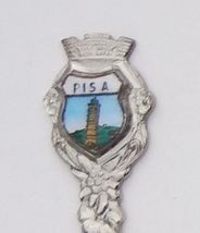Collector Souvenir Spoon Italy Pisa Leaning Tower of Pisa Porcelain Enamel - $14.99
