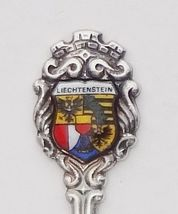 Collector Souvenir Spoon Liechtenstein Coat of Arms Porcelain Enamel Emblem - $14.99