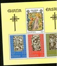 GHANA 1974 IMPER SHEET EASTER RELIGION MNH S12186-A2 - $3.47
