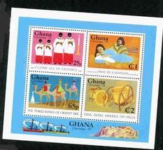 GHANA 1979 CHRISTMAS SHEET EASTER RELIGION MNH S12191-A2 - $3.47