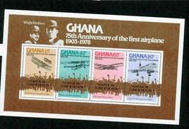 GHANA 1978 AVIATION 1ST AIRPLANE  MNH S12189-A2 - $4.46