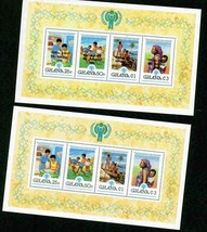 GHANA 1979 YEAR OF THE CHILD 2 SHEETS 1 O/P POPE VISIT MNH S12192-A2 - $6.93