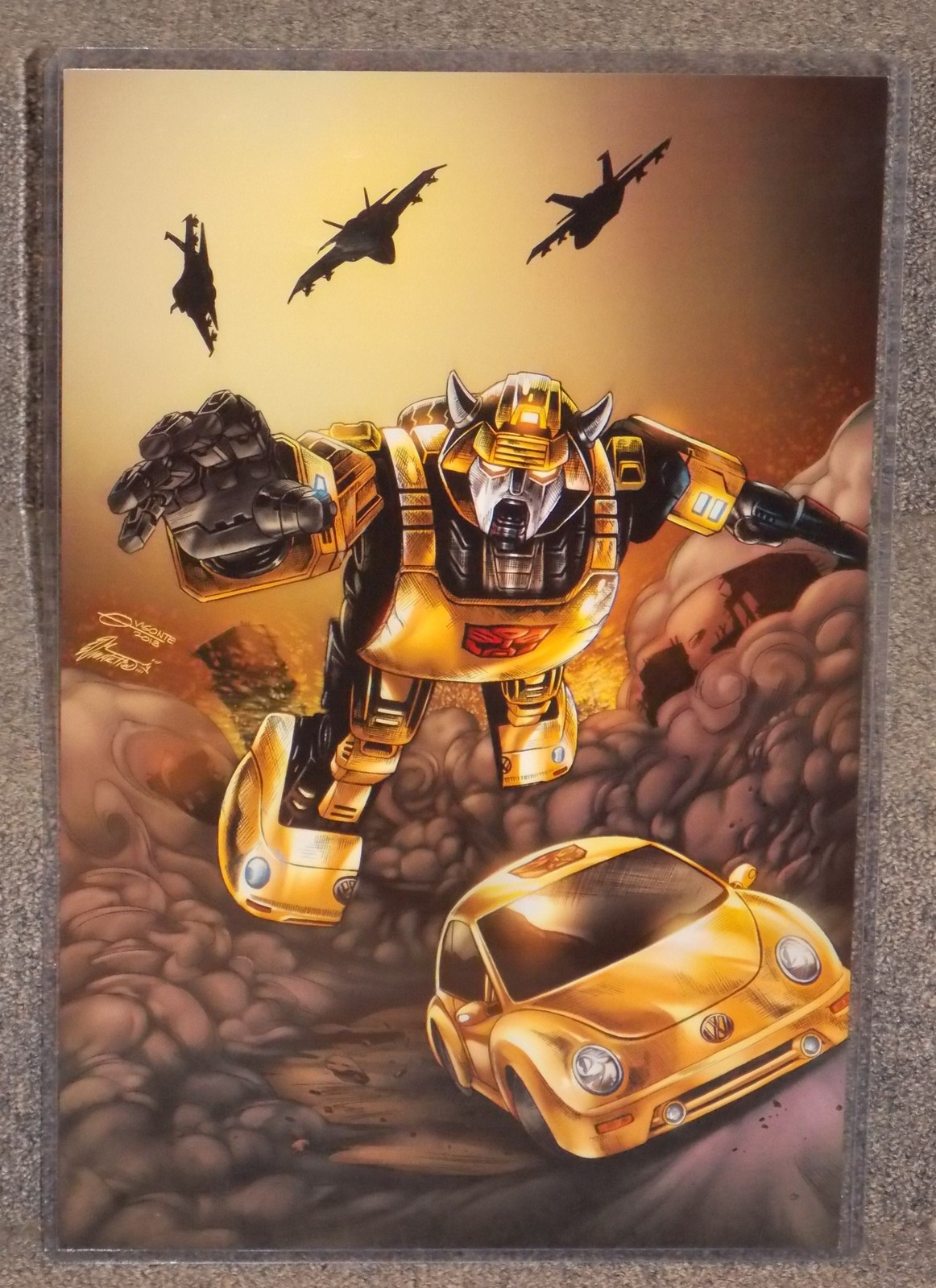 Primary image for Transformers Bumblebee Glossy Print 11 x 17 In Hard Plastic Sleeve
