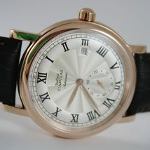 CAPITAL WATCH AUTOMATIC TY2718 MOVEMENT 41 MM PINK CASE ROMAN NUMBER retrò style image 4