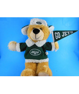 New York Jets Football Plush Bear Fan Good Stuff plush w fleece shirt & ... - $10.39