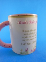 Ganz Mom's Rules for Life Pink Floral Mother's Day Mug Coffee Cup - $6.92