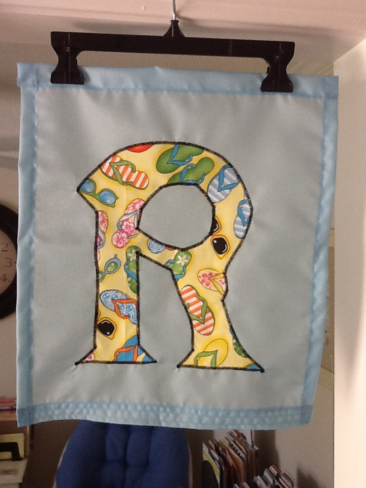 ... Your Choice Monogrammed Initial Handmade Garden Flag Initials R Or X  Various ...