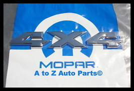 New 2011-2016 Dodge Ram 4X4 3D Shiny Chrome Tailgate Emblem,OEM Mopar - $51.95
