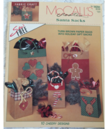 McCall's creates Santa Sacks # 14284 Fabric Cra... - $5.95
