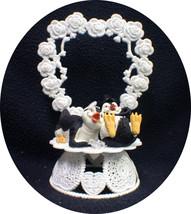 Happy Penguin Kickin Feet Wedding Cake topper funny top nature Animal Heart Lay - $44.45