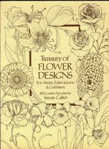 Treasury of Flower Designs for Artists,Embroiderers and Craftsmen:100 Ga... - $14.99