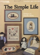 The Simple Life, Leisure Arts Counted Cross Stitch Pattern Booklet 461 - $2.95