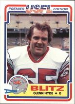 1984 Topps USFL #21 Glenn Hyde -Chicago Blitz- - $2.45