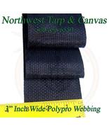 "Webbing, 3"" Inch Black Polypropylene Sold By-The-Yard 36"" Uncut Lengths - $1.98"