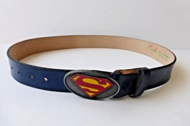Vintage Lee Co. Superman Hero Belt Buckle w/ Le... - $37.05