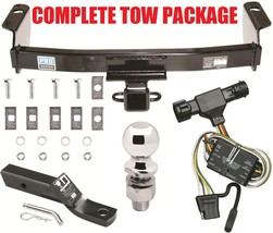 """Complete Trailer Hitch Receiver Tow Package ~ Fast Shipp ~ Class Iii 2"""" Opening - $168.29"""