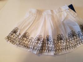 Geniune kids from OSHKOSH Toddler  Girls  Skirt Size 4T White  Black Flo... - $11.19