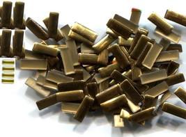 BAR Rectangle Rhinestuds  7mm Hot Fix  GOLD color 1 gross - $4.59